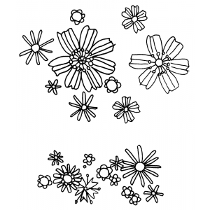 Catherine Scanlon Cling Mount Stamp - Small Flowers AGC1-2749
