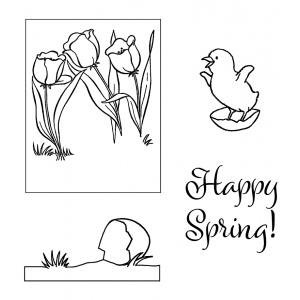 Clear Stamps: Spring Chick View Maker ASSCS-042