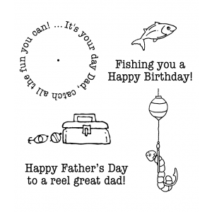 Carolee Jones Wheel Cling Stamp Set: Fishing Dad ASCS-007