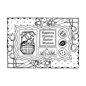Carolee Jones Cling Mount Stamp: Easter Frame RX3-1301