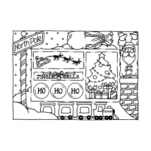 Carolee Jones Cling Mount Stamp: Jingle Frame RX3-2362