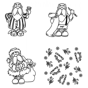Carolee Jones Cling Mount Stamp Set - Santa L-1979