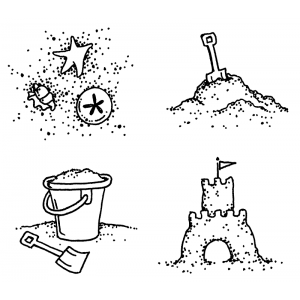 Carolee Jones Cling Mount Stamp Set - Sandcastle L-2132