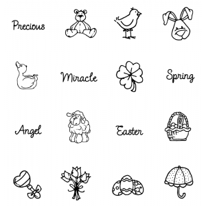 Carolee Jones Clear Stamps: Baby & Easter Little Pics SC-2441