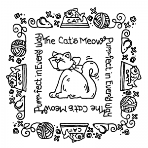 Carolee Jones Simple Squares - Cat's Meow SC-2478