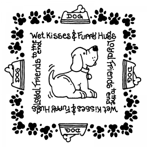 Carolee Jones Simple Squares - Furry Hugs SC-2479