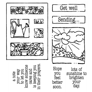 Carolee Jones Clear Stamps: Get Well Tiny Cutts SC-2532