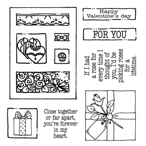 Carolee Jones Clear Stamps: Valentine's Tiny Cutts SC-2537