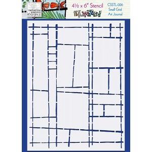 Catherine Scanlon Stencil - Small Grid Art Journal CSSTL-006