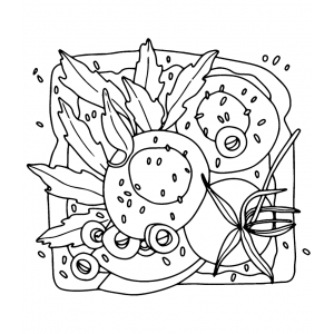 Catherine Scanlon Cling Mount Stamp - Egg & Arugula Toast AGC1-2864