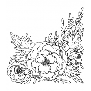 Catherine Scanlon Cling Mount Stamp: Floral Corner AGC1-2861