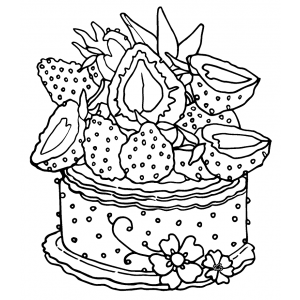Catherine Scanlon Cling Mount Stamp: Strawberry Cake AGC1-2866