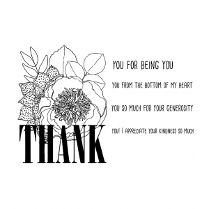 Catherine Scanlon Cling Mount Stamp Set - Thank You CSCS-2844