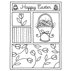 Darby New Cling Mount Stamp - Easter Mini Frame AGC2-1212