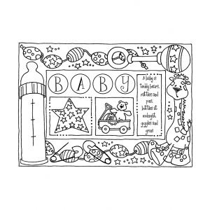 Darby New Cling Mount Stamp: Baby Frame RX3-2085