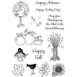 Darby New Clear Stamps: Fall Friends ASMCS-049