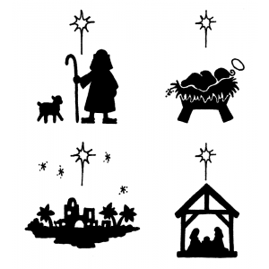 Darby New Cling Mount Set - O Holy Night L-1504