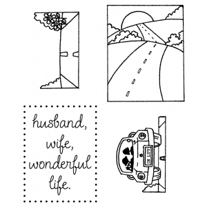 Darby New Clear Stamps: Wonderful Life View Maker MC-2428