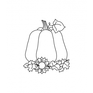 Wood Mount Stamp - Fall Pumpkin H1-178