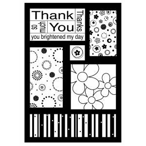 J. Clare Cling Mount Stamp - Thanks Cutts Apart AGC3-2462