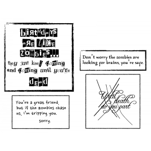 Cling Mount Stamps - Zombie Sayings L-2659