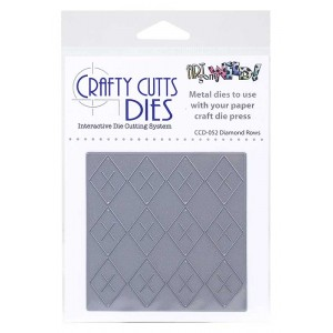 Crafty Cutts Dies - Diamond Rows Metal Die CCD-052