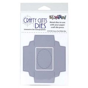 Crafty Cutts Dies - Fancy Oval Slider Box Metal Die CCD-002