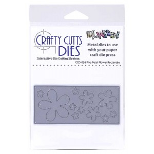 Crafty Cutts Dies - Five Petal Flower Rectangle Metal Die CCD-036