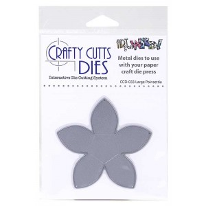 Crafty Cutts Dies - Large Poinsettia Metal Die CCD-033