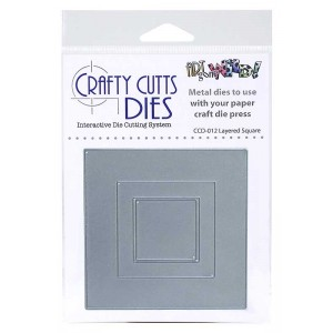 Crafty Cutts Dies - Layered Square Metal Die CCD-012