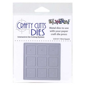 Crafty Cutts Dies - Nine Square Metal Die CCD-011