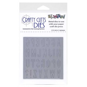 Crafty Cutts Dies - Upper Case Alphabet Metal Die CCD-040