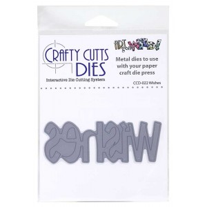 Crafty Cutts Dies - Wishes Metal Die CCD-022