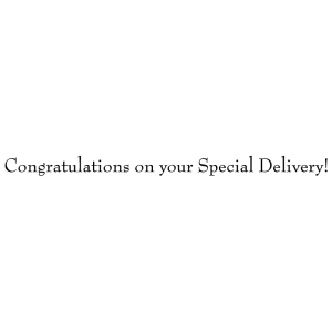Michelle Masters Wood Mounted Stamp - Congratulations Special Delivery G4-2614