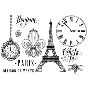 Nicole Tamarin Cling Mount Stamp Set - Paris NT-001