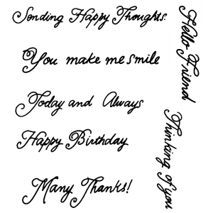 Catherine Scanlon Clear Stamp Set - Simply Stated SC-2754