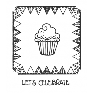 Carolee Jones Clear Stamps: Cupcake Celebration ASSCS-033