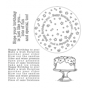 Carolee Jones Wheel Cling Stamp Set - Birthday ASCS-002