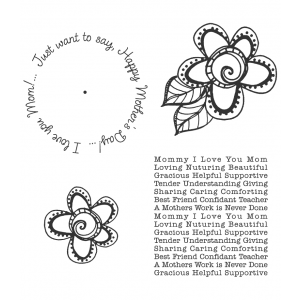 Carolee Jones Wheel Cling Stamp Set - Mother's Day ASCS-006