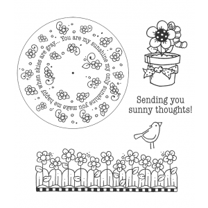 Carolee Jones Wheel Cling Stamp Set - Sunshine ASCS-004
