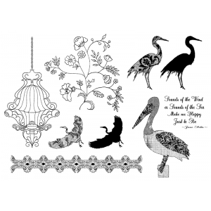 Suzanne Carillo Cling Mount Stamp Sets - Sound of The Sea BZ013