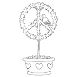 Michelle Masters Cling Mount Stamp - Peace Symbol AGC1-2689