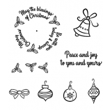 Wheel Cling Stamp Set: Christmas Blessings ASCS-009