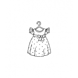 Carolee Jones Wood Mounted Stamp - Baby Dress D2-427