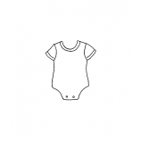 Carolee Jones Wood Mounted Stamp - Baby Onesie D2-432
