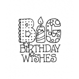Carolee Jones Wood Mounted Stamp - Big Wishes H1-24