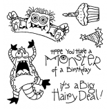 Carolee Jones Clear Stamps: Monster Birthday SC-2463