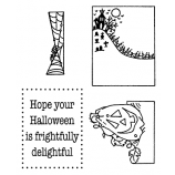 Darby New Clear Stamps: Halloween View Maker MC-2418