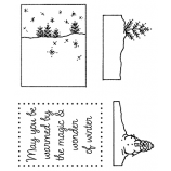 Darby New Clear Stamps: Winter View Maker MC-2420