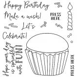 Nicole Tamarin Clear Stamp Set - Birthday Cupcake NTSCS-001